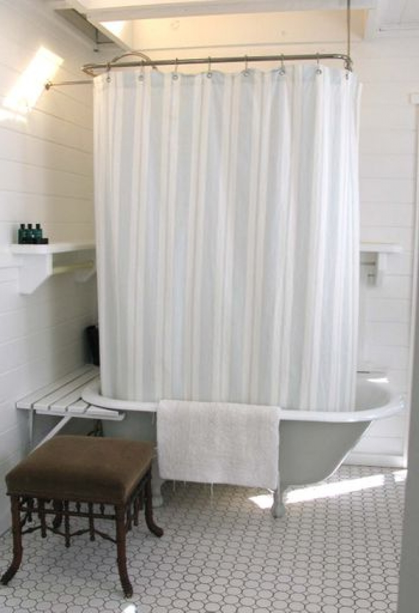 Shower Curtain Clawfoot Tub Home The Honoroak