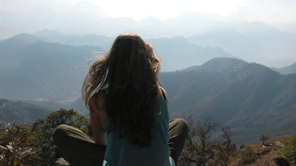 Het uitzicht over Dhading, Nepal