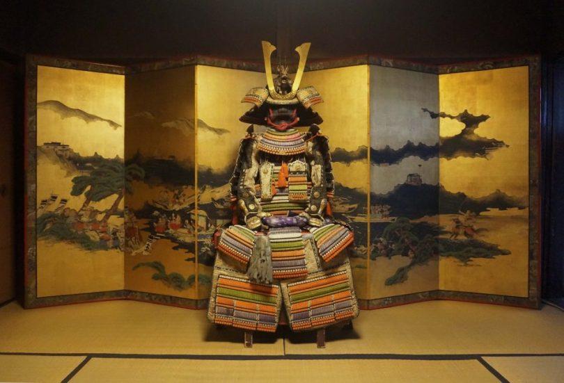 Een 350 jaar oud samuari kostuum