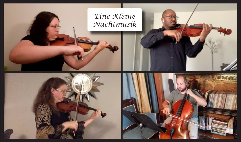 A virtual concern by the Friends of Music (playing Eine Kliene Nachtmusik)