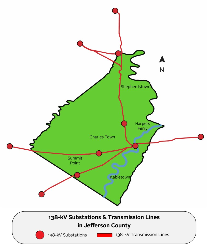 map of tranmission lines