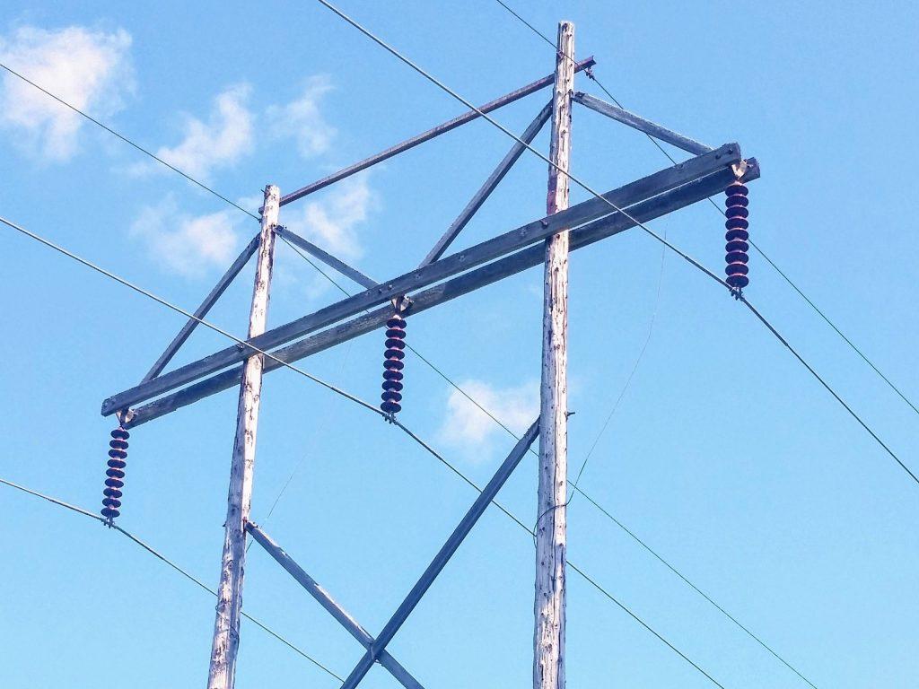 138,000 volt transmission lines near Kabletown.