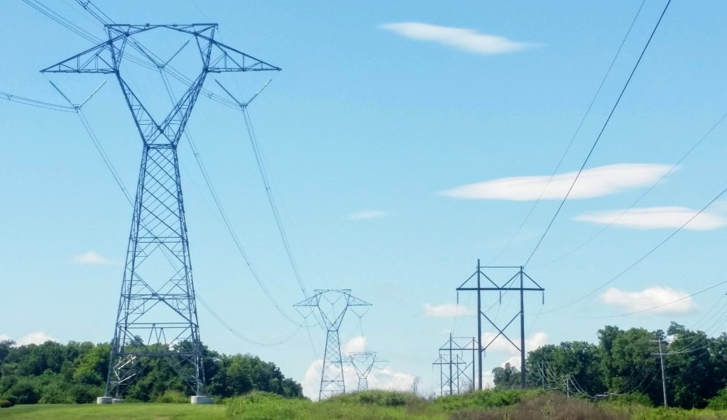 transmission lines in Charles Town District