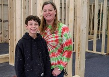 Melissa Glascock and her son.