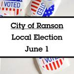 Ranson local elections will take place on June 1.