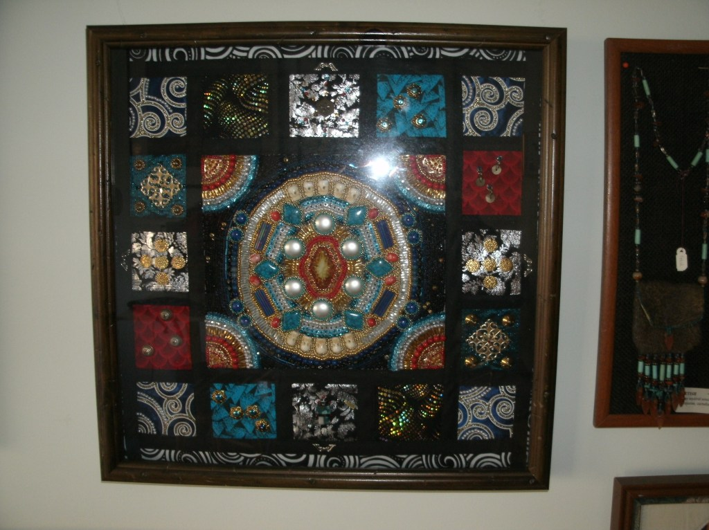 A beaded quilt by Lisa Ashton.