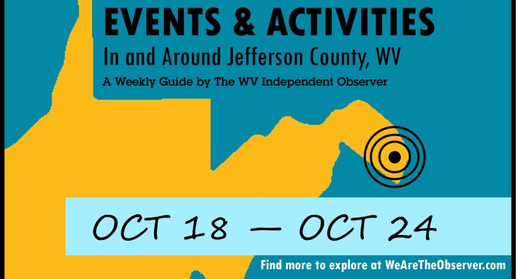 Events and activities from october 18 to october 24