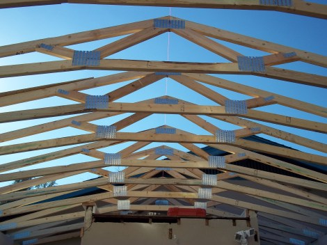 Carport roof in progress