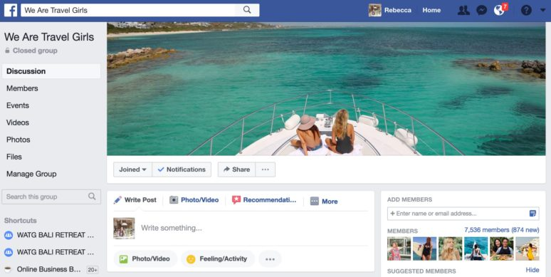 AMBER: Travelgirls website