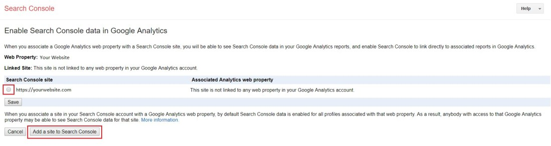 Linking Analytics and Search Complete