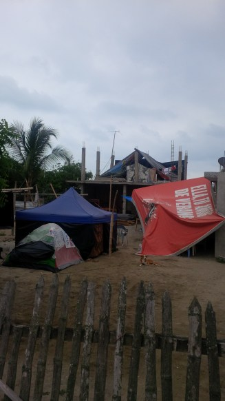 Many living in tents.