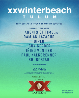 XX Winter Beach Tulum