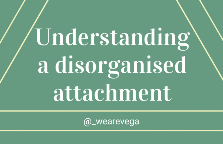 Cover image with the words 'understanding a disorganised attachment