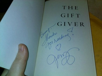 Gift Giver, autographed by Jennifer Hawkins