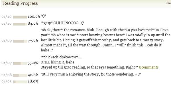Bunny's reading OUTLANDER