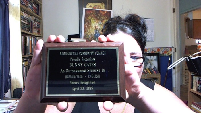 Outstanding Student in Humanities – English award.