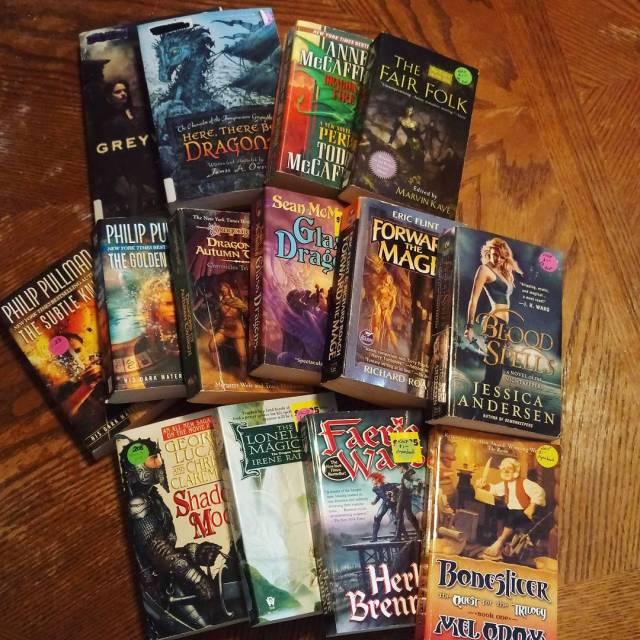 Bargain book haul! Picked up a few fantasy books athellip