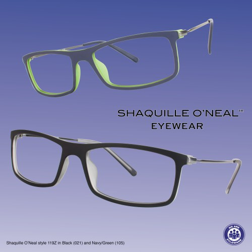 Shaquille O'Neal style 119Z in Navy/Green (105) is double-layered, lightweight, durable and flexible. The frame features a TR-90 thermoplastic front which offers performance, quality and eye-catching style. #Shaq #ShaquilleONeal #Zyloware #WeAreZyloware