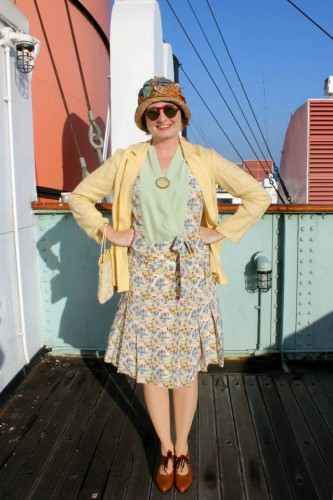 Wearing History- 1920's Cruise Dress