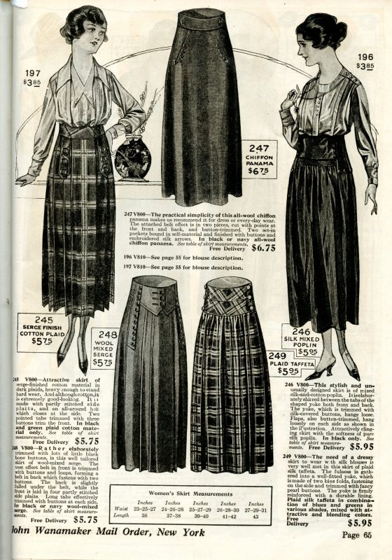WWI Fashion Skirts And Blouses 1918 1919 Wearing History Blog