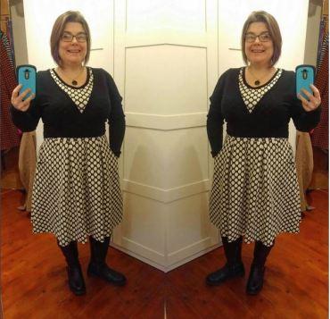 Joanie Clothing spot dress - new