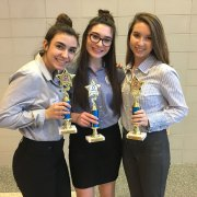 Wear It Forward win's 1st place in the Business Growth category of the Mass Regional DECA competion January 11 2018