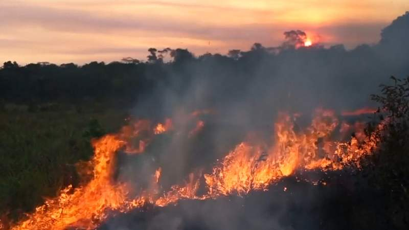 Amazone brändet: Macron röpt G7 by mekander vöär 'internationalen krisis'