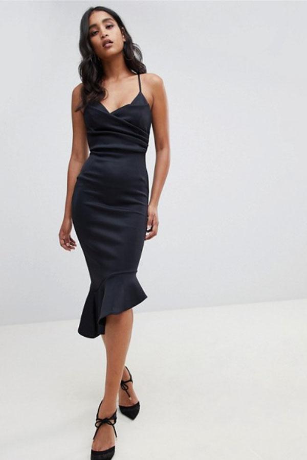 ассиметричный покрой платья