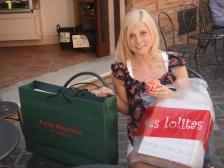Shopping in Ravenna - a bit blonder then!