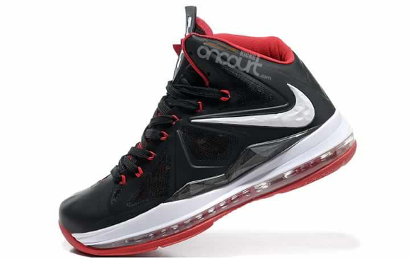 save off 11c95 a78c0 Nike LeBron X (10) Black  Red- White