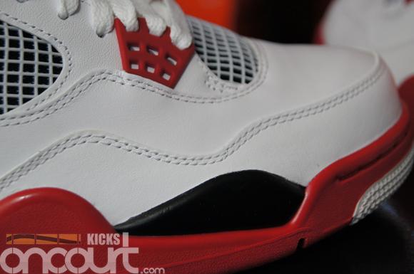 huge discount bfe60 ac923 Air-Jordan-IV-4-Retro-White-Varsity-Red-Black-Detailed-Images-2 ...