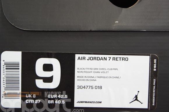 big sale e068d a6ed9 Air-Jordan-VII-(7)- Charcoal -Detailed-