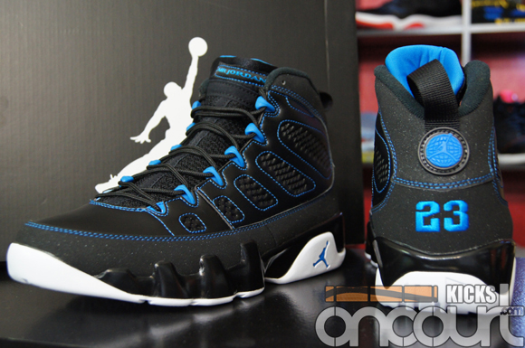 6a7b61152616a Air Jordan IX (9) Retro Black  White- Photo Blue - Detailed Images ...