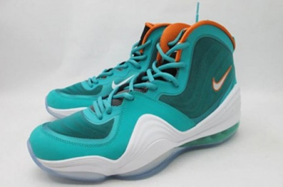 best service ee7db 777a1 Nike-Air-Penny-V-(5)- Miami-Dolphins