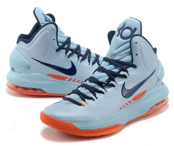 6666754b872a Nike KD V (5) Ice Blue  Squadron Blue - Total Orange - WearTesters