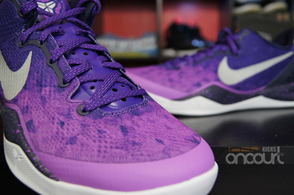 961efad963d8 Nike Kobe 8 SYSTEM  Purple Gradient  - Detailed Look   Review ...