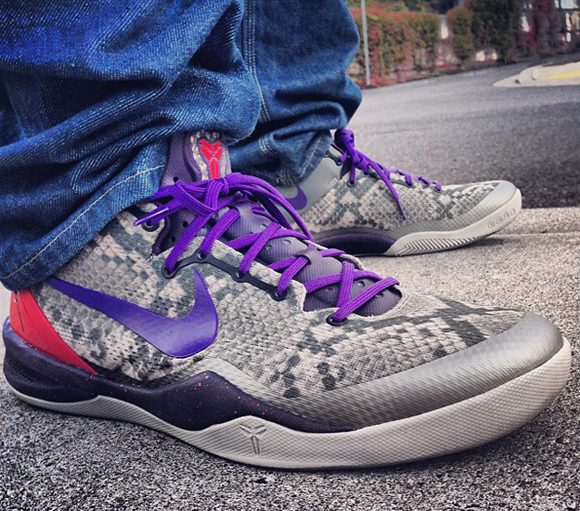 big sale e8553 ca022 Nike Kobe 8 SYSTEM  Mine Grey  - WearTesters