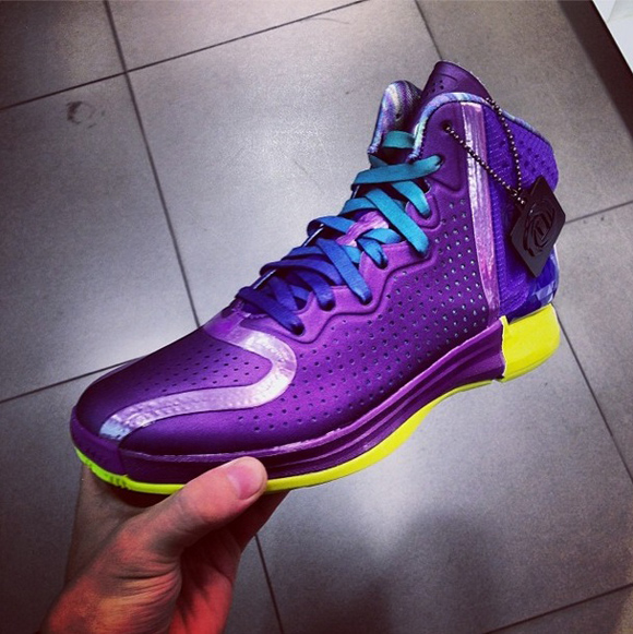 9c7d2c50ac7a adidas D Rose 4 Ray Purple  Running White - Another Look - WearTesters