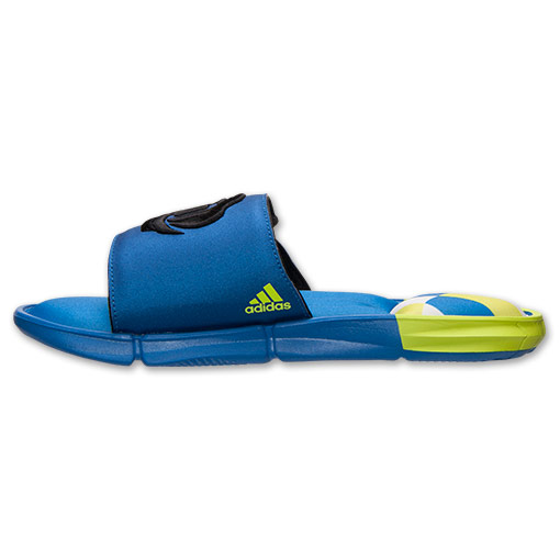 adidas D Rose Slide Sandals - Available Now BLUE 5