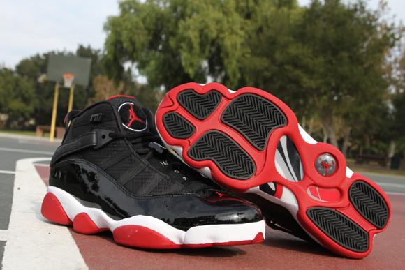 finest selection ca270 82e79 Air Jordan 6 Rings Black Red - Detailed Look 3
