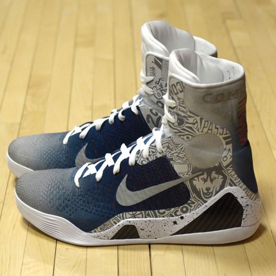 "d12271ccb5f82 Nike Kobe 9 Elite ""UCONN"" by Mache Customs for Geno Auriemma ..."