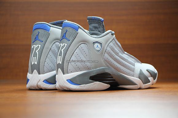 7dc36b0e4823 Air Jordan 14 Retro  Sport Blue  - Up Close   Personal - WearTesters