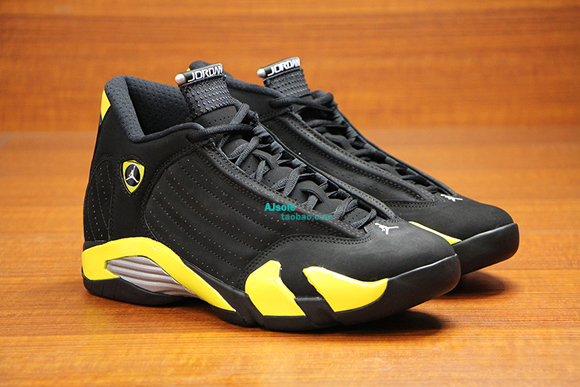 dfcea17ac9843c Air Jordan 14 Retro  Thunder  - Up Close   Personal 2 - WearTesters