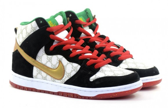 Black Sheep Skate Shop x Nike SB Dunk High  Gucci  – Detailed Look ... 7e4f9fdde