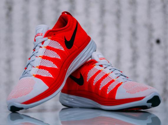 7352a660ffa01 Nike Flyknit Lunar 2 - Pure Platinum Black Laser Crimson - WearTesters