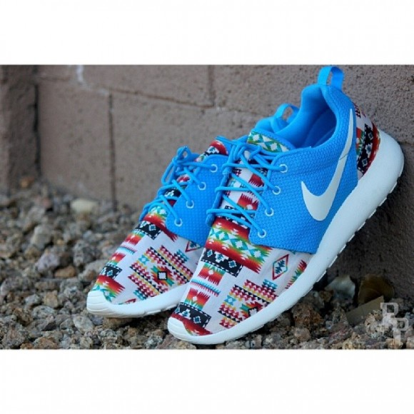 san francisco b86e1 59a52 Nike Roshe Run  Native Rug  Customs by ProfoundProduct ...