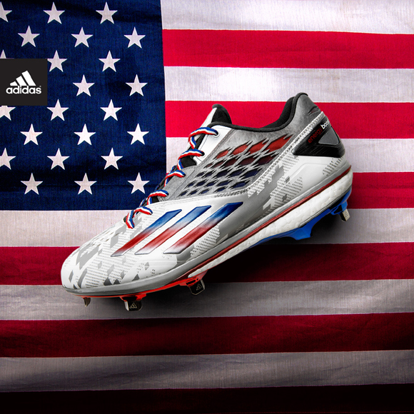 d3f020eb47ae adidas Celebrates July 4th with New Baseball Boost Cleat Colorway ...