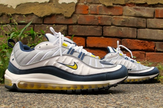 Nike Air Max 98 Tour Yellow Midnight Navy - WearTesters 132ed1ad5