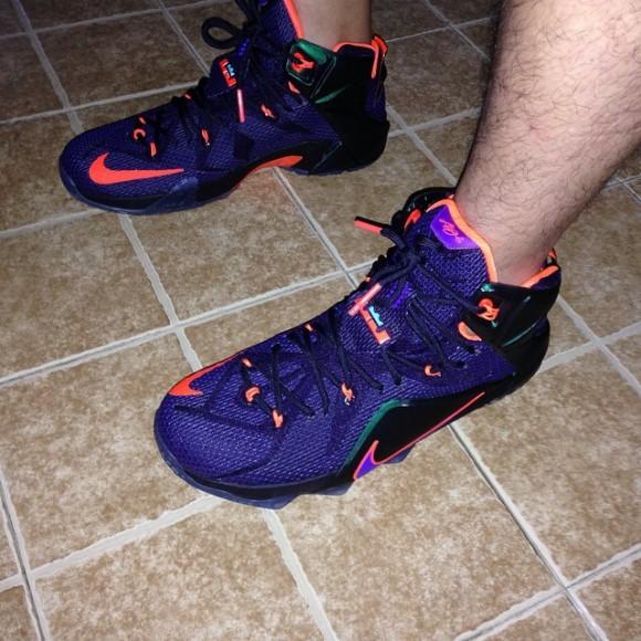 on sale 5cbd1 c78c0 Nike LeBron 12  Instinct  – On-Feet Look3