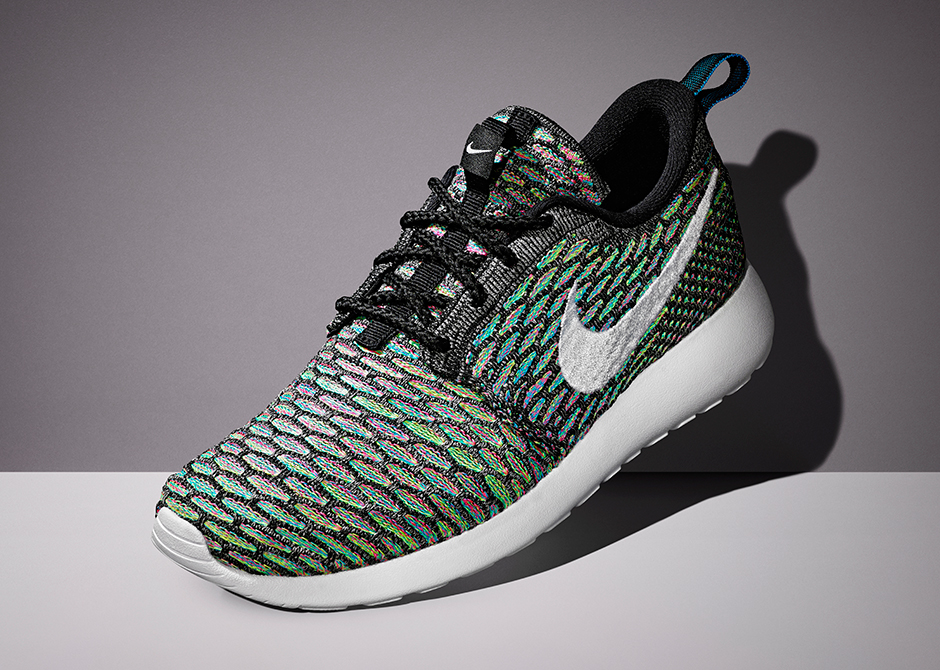brand new 9cc85 26772 Nike Flyknit Roshe Run Multi-Color ...